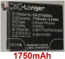 Battery 1750mAh type Li3817T43P3h724940 For ZTE Grand S LTE