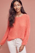 NEW Anthropologie Homeward Pullover Sweater Size XS Orange Motif