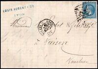 France 1870 20c Emperor Napoléon Lyon Loius Aubert Co