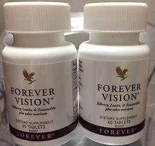 2x Forever Vision Dietary Supplement for Eyes 60 Tablets exp 11/18