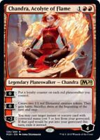 CHANDRA, ACOLYTE OF FLAME NM mtg Core 2020 M20 Red - Planeswalker Rare