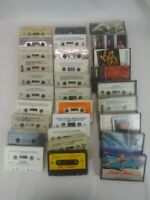30 CASSETTE TAPES FOR ART CRAFTS PARTY DECORATION REPURPOSING Some with Cases