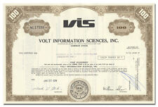 Volt Information Sciences, Inc. Stock Certificate