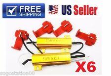 6x 50W Load 6 ohm Resistor 12v Fix Fast LED/SMD Blink Blinking Error Flickering
