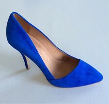 $168 NEW Madewell JCrew Mira Heel Womens 10 Pump Noble Blue Suede Shoes