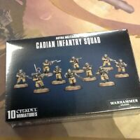 40K Warhammer Astra Militarum Cadian Infantry Squad NIB Sealed Shock Troops