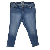 Torrid Women Boyfriend Jeans Denim High Rise Plus Size 22 Blue