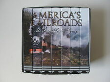 America's Railroads, The Steam Train Legacy, Box Set of 7 VHS Films, Made in USA