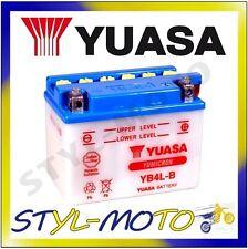YB4L-B BATTERIA ORIGINALE YUASA CON ACIDO DERBI 50 (4T) SONAR 2011