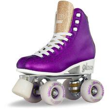 Girls Ladies Roller Skate PURPLE Glitter GLAM Kids Boot Quad - Crazy Skates Size