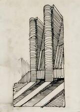 Futuristic Architecture VII ANTONIO SANT'ELIA Vintage Futurism Poster
