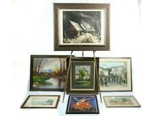 7 Framed Oil Paintings & Prints by Various Artists Lot 87