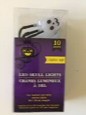 New:10 Ct Skull Shaped LED Fairy Lights/Battery Operated/3 Foot Strand