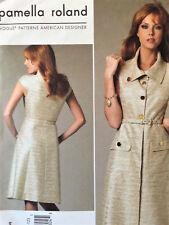 Vogue American Designer Pattern 1233 Pamela Roland A-Line Dress 6 8 10 12 Uncut