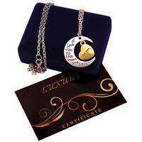 Collana donna argento oro G4Love cuore luna regalo mamma sorella figlia dedica