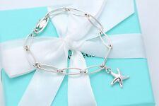 "Tiffany & Co. Sterling Silver Elsa Peretti Star Fish Bracelet 7.25"""