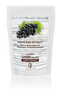 Grapeseed Extract 12000mg GSE x 180 Tablets Pills