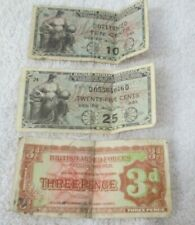 Lot of Vintage Military Payment Certificates British Armed Forces Paper Money