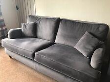 grey velvet 3 Seat Sofa