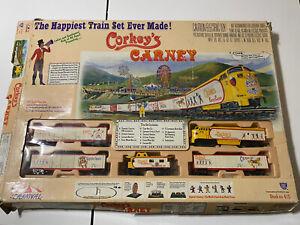 IHC Corkey's Carney HO Scale Train Set  Clowns Ferris Wheel Carousel Box Rough
