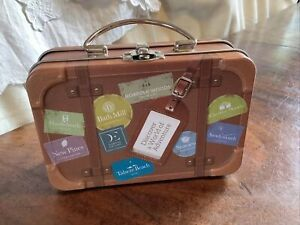Vintage Novelty Travel Suitcase Tin Travel Luggage Storage Tin