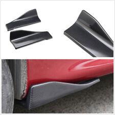 2 X ABS Carbon Fiber Color Car SUV Bumper Modified Anti-Crash Spoiler Rear Lips
