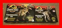 Vintage 1993 Lindberg Jurassic Park T-Rex + Raptor Model Kit Lot, Both Complete!