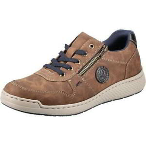 Rieker B5820 Mens Brown Wide Fit Lace Up Zip Casual Shoes Trainers Size 8-12