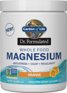 Dr. Formulated Whole Food Magnesium by Garden of Life, 40 servings Orange