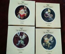 "Lot of 4 SCHMID ""THE MUSIC MAKERS"" COLLECTOR PLATES WITH  BOX AND COA PAPERS"