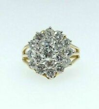 Diamond Flower Cluster Right 3.56ct Round Brilliant Cut