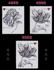 4959-60 4960 5002 Vintage Rose and Tulips Complete Set of 3 2015 MNH - Buy Now