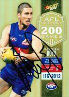 ✺Signed✺ 2013 WESTERN BULLDOGS AFL Card MATTHEW BOYD Milestone