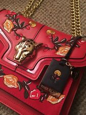 River Island Red Bag With Embellishment And Gold Panther Head