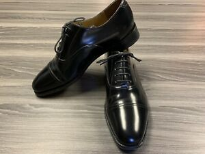 CHARLES TYRWHITT Black Leather Formal Toe Cap Oxford Shoes size 10M  US