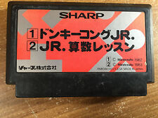 Donkey Kong Jr + Jr Math Lesson Sharp Multicart Famicom NES Japan import