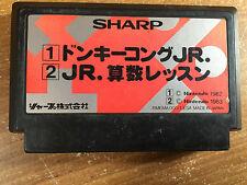 Donkey Kong Jr + Jr Math Lesson Sharp Multicart Famicom NES Japan import