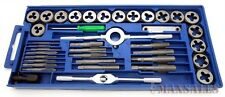 40 Pc METRIC Tap And Die Set Bolt Screw Extractor/Puller Kit New Removal