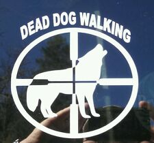Dead dog walking decal, coyote, wolf, hunting, car, truck, window predator.