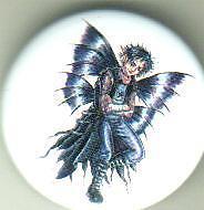 Goth Boy Fairy  pin badge emo punk goth gothic
