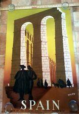 Spain original 1943 Delpy travel poster Madrid Spanish Mid Century Art Poster