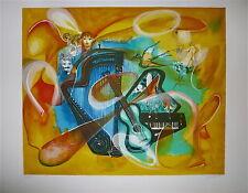 KELMAN Lithographie signée numérotée Musique Piano Guitare composition