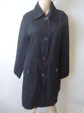 da donna eleganti nero cappotto giacca UK 12 EU 40