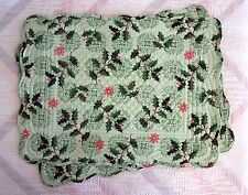 Christmas Holly Placemat Set Holly Holiday Pattern Kay Dee Reversable