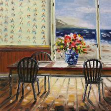 ORIGINAL Window SEA LANDSCAPE Oil Painting JMW art John Williams Impressionism