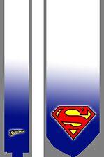 L@@K! Superman white satin Necktie - Man of Steel