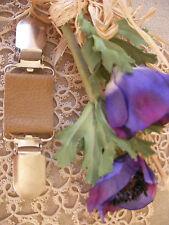 Lagenlook cuir Clip ~ vêtements ~ Robe ~ foulard ~ Tan Matt/70 couleurs + Mariée magnolia ~ BN