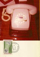 CARTE POSTALE MAXIMUM PHOTO CENTENAIRE DE LA PREMIERE LIAISON TELEPHONIQUE