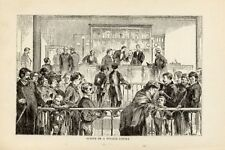 1881= OLD NEW YORK = POLICE COURT = Old Rare Engraving