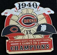 CINCINNATI REDS VS DETROIT TIGERS 1940 WORLD SERIES PIN MLB LICENSED
